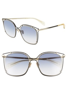 rag & bone 56mm Gradient Square Sunglasses