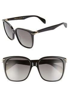 rag & bone 56mm Polarized Square Sunglasses