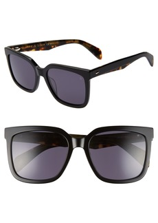 rag & bone 56mm Square Sunglasses