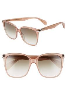 rag & bone 56mm Square Sunglasses