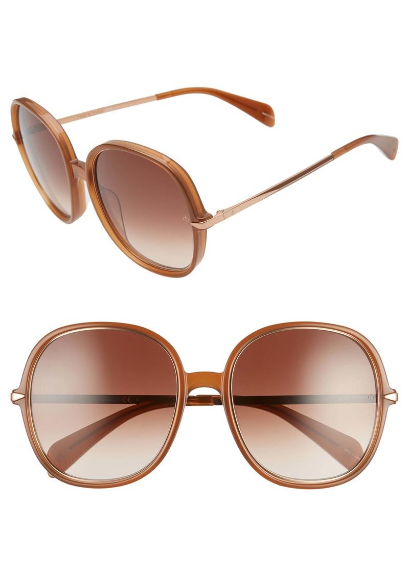 rag & bone 59mm Gradient Round Sunglasses