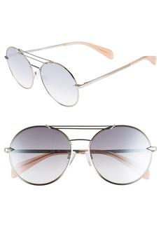 rag & bone 59mm Round Metal Aviator Sunglasses