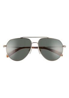 rag & bone 60mm Aviator Sunglasses