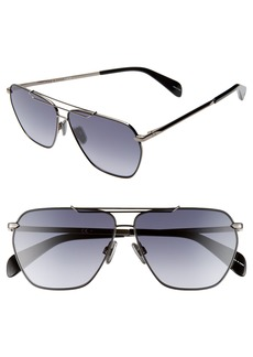 rag & bone 61mm Gradient Navigator Sunglasses