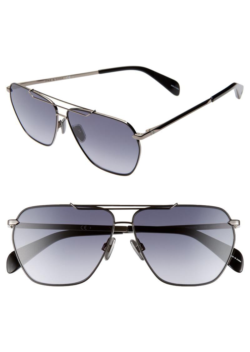 rag & bone 61mm Gradient Navigator Sunglasses