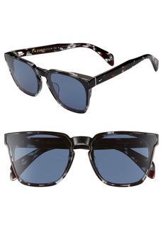 rag & bone 62mm Oversize Flat Front Sunglasses