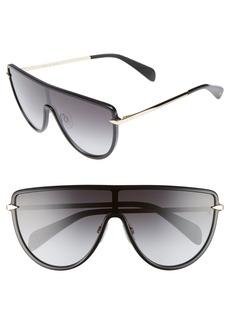 rag & bone 99mm Flat Top Shield Sunglasses