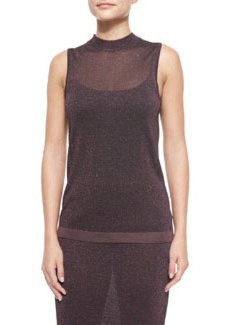 Rag & Bone Marie Metallic Knit Sleeveless Top