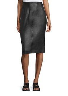 Rag & Bone Phoebe Lamb Leather Pencil Skirt