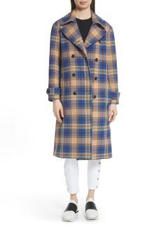 rag & bone Ace Plaid Trench Coat