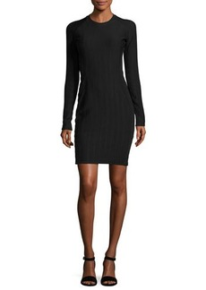 Rag & Bone Ada Long-Sleeve Textured Stretch Mini Dress