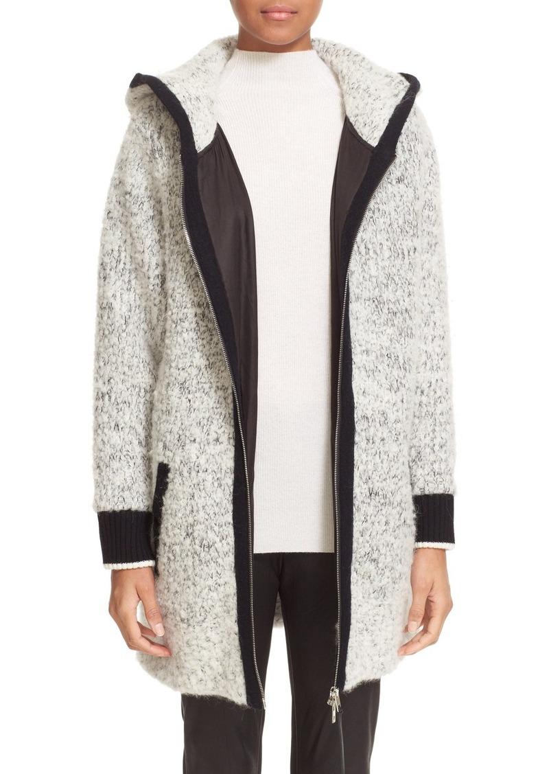 rag & bone 'Adele' Wool & Alpaca Blend Hooded Coat