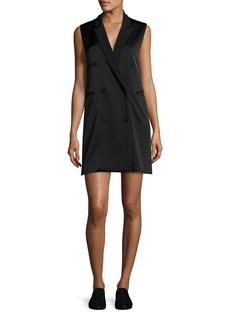 Rag & Bone Adler Sleeveless Double-Breasted Crepe Mini Dress