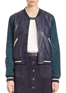 Rag & Bone Alix Two-Tone Leather & Suede Jacket