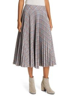 rag & bone Alma Plaid Midi Skirt