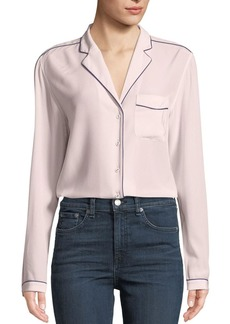 Rag & Bone Alyse Long-Sleeve Silk Button-Down Shirt