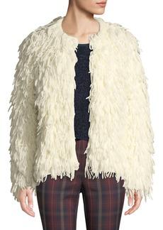 Rag & Bone Amber Shaggy Wool Fringe Jacket