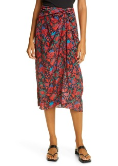 rag & bone Amber Silk Midi Skirt