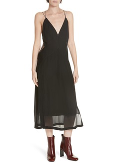 rag & bone Anais Mesh Back Silk Dress