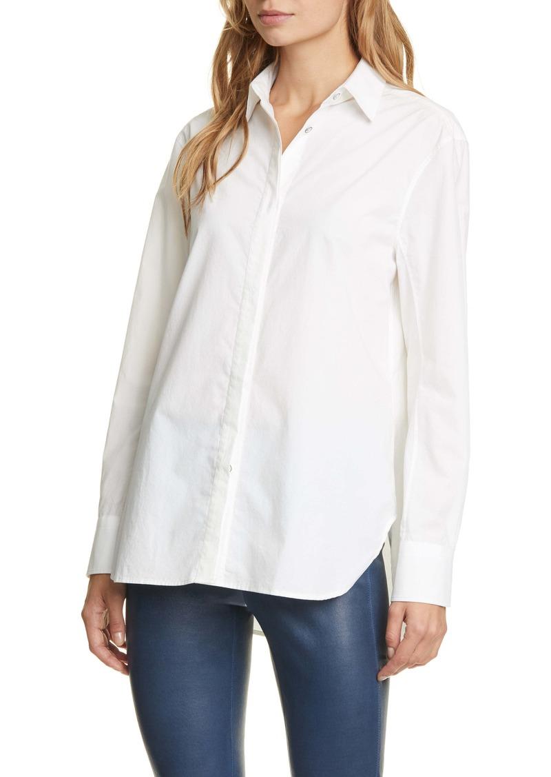 rag & bone Anderson Cotton & Silk Poplin Shirt