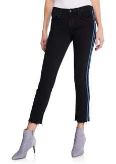 Rag & Bone Ankle Dre Mid-Rise Skinny Jeans w/ Side Stripes