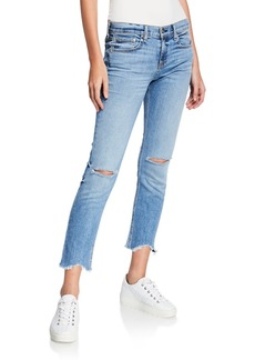 Rag & Bone Ankle Dre Straight-Leg Jeans w/ Cutoff Hem