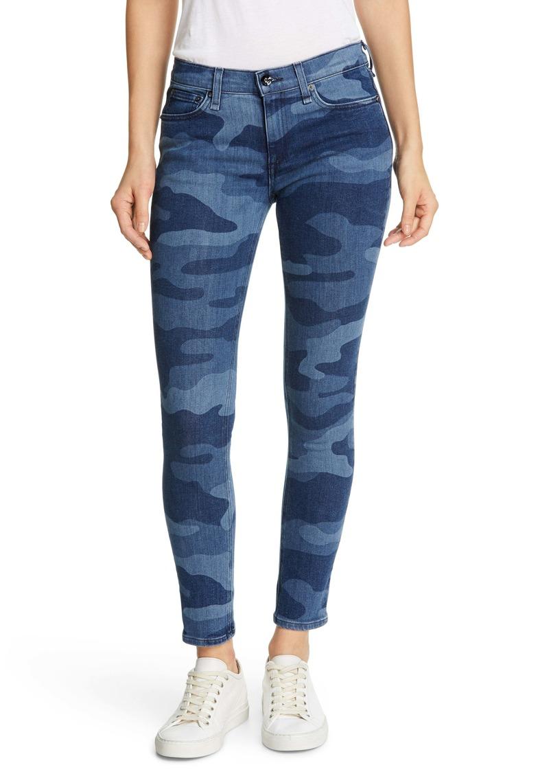 rag & bone Ankle Skinny Jeans (Indigo Camo)