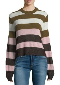 Rag & Bone Annika Crewneck Striped Cashmere Sweater