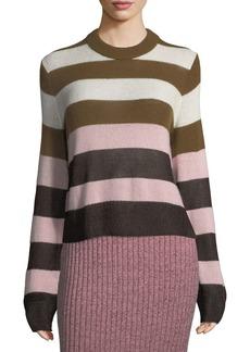 Rag & Bone Annika Wide-Stripe Ombre Crewneck Sweater