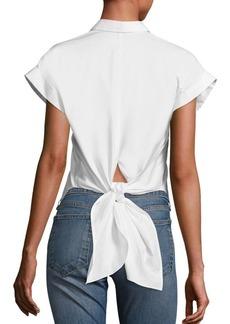Rag & Bone Ara Tie-Back Cotton Blouse