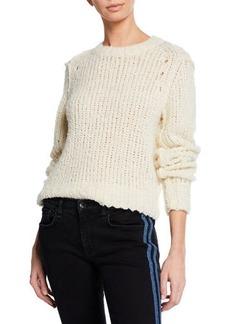 Rag & Bone Arizona Crew Boxy-Fit Wool Sweater