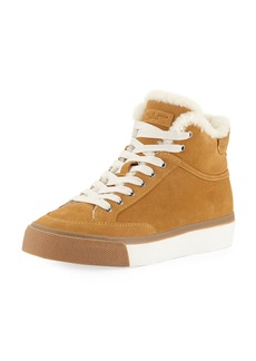Rag & Bone Army High-Top Shearling Sneakers