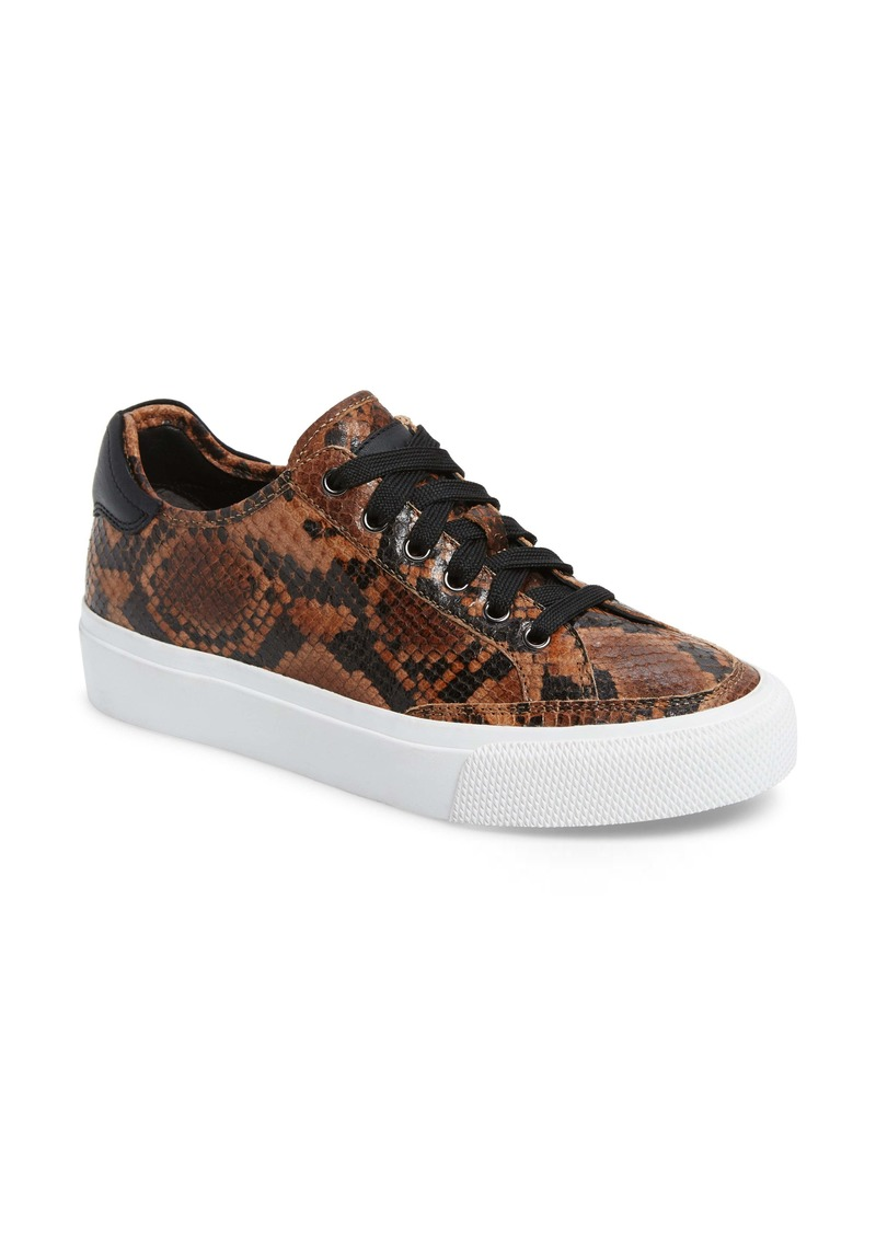 rag & bone Army Snake Embossed Low Top Sneaker (Women)