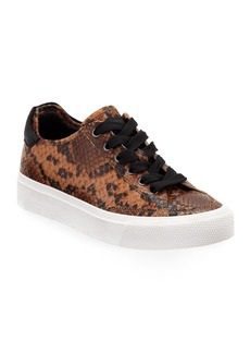 Rag & Bone Army Snake-Print Low-Top Sneakers