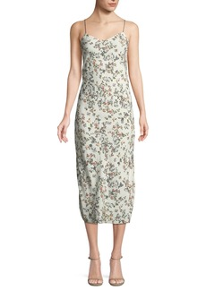 Rag & Bone Astrid Floral-Print Viscose Slip Dress
