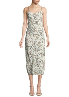 Rag & Bone Astrid Floral-Print Viscose Slip Dress