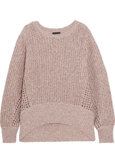 Rag & Bone Athena metallic ribbed and open-knit cashmere-blend sweater