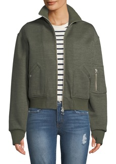 Rag & Bone Aviator Zip-Front Bomber Jacket