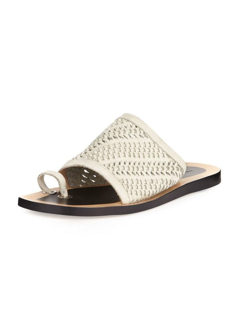 Rag & Bone Avril Woven Napa Leather Slide Sandal