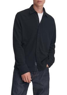 rag & bone Baron Knit Button-Up Shirt