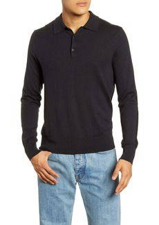 rag & bone Barrow Long Sleeve Sweater Polo