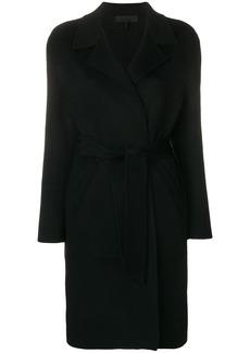 Rag & Bone belted single breasted coat - Black