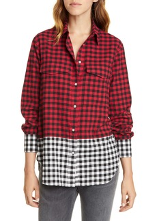 rag & bone Birdie Buffalo Check Print Shirt