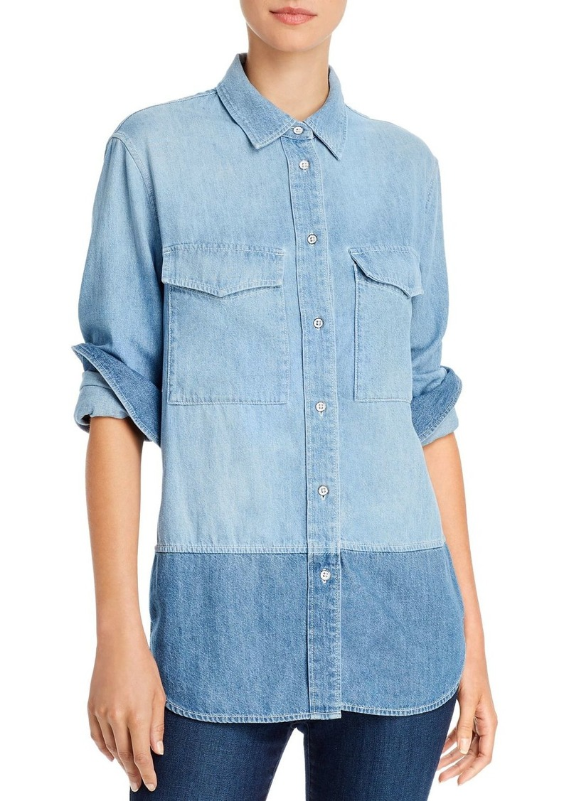 rag & bone Birdie Color-Block Chambray Shirt