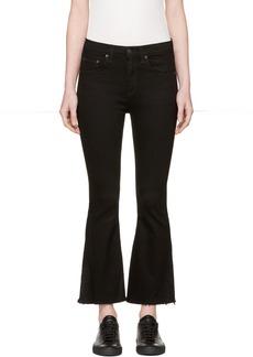 Rag & Bone Black Crop Flare Jeans