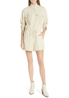 rag & bone Boa Ruched Sleeve Romper