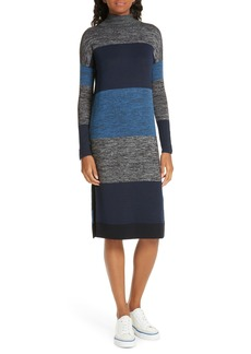 rag & bone Bowery Stripe Turtleneck Sweater Dress