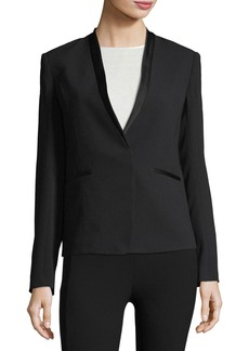 Rag & Bone Bowman Collarless Crepe Blazer