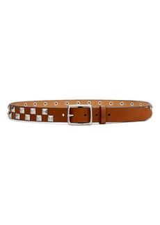 rag & bone Boyfriend Studded Leather Belt