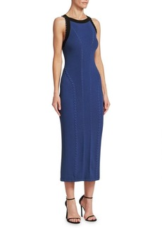 Rag & Bone Brandy Sleeveless Contrast Midi Dress